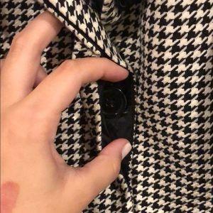 Jackets & Coats - Houndstooth Trench Coat